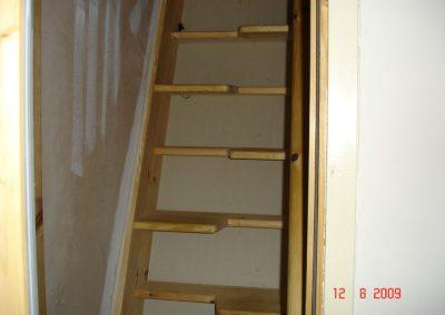 Internal loft staris (handbuilt)
